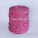 Sukta medvilninė virvė, rožinė sp., 4 mm, 160 m