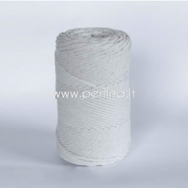 Cotton rope, natural, 3 mm, 280 m
