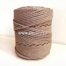 Sukta medvilninė virvė, rusva sp., 4 mm, 140 m