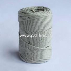 Pasukta medvilninė virvė, blyški žalsva sp., 3 mm, 140 m