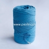 Pasukta medvilninė virvė, mėlyna sp., 3 mm, 140 m