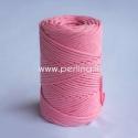 Pasukta medvilninė virvė, rožinė sp., 3 mm, 140 m
