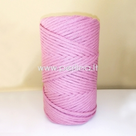 Cotton rope, pale lavender, 3 mm, 140 m