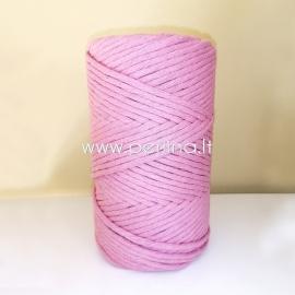 Pasukta medvilninė virvė, blyški levandų sp., 3 mm, 140 m