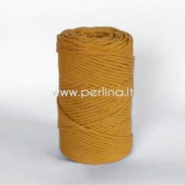 Pasukta medvilninė virvė, garstyčių sp., 3 mm, 140 m
