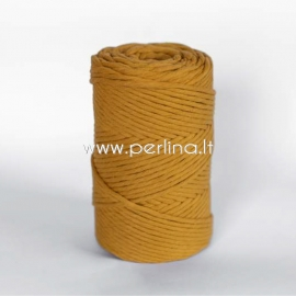 Cotton rope, mustard, 3 mm, 140 m
