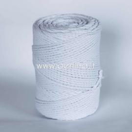 Sukta medvilninė virvė, balta sp., 3 mm, 120 m