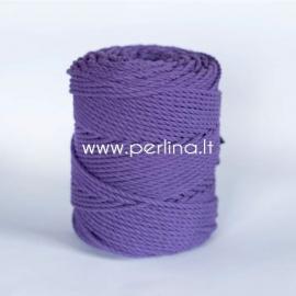 Sukta medvilninė virvė, violetinė sp., 4 mm, 160 m