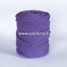 Twisted cotton cord, purple, 3 mm, 260 m