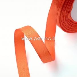 Satin ribbon, orange, 6 mm, 1 m