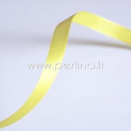 Satino juostelė, geltona, 6 mm, 1 m