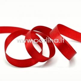Satin ribbon, red, 6 mm, 1 m