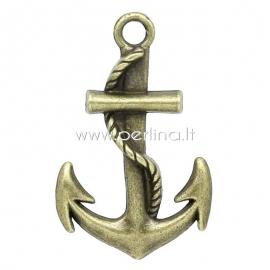 "Pakabukas ""Anchor"", ant. bronzos sp., 3,6x2,3 cm"