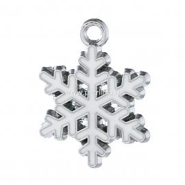 "Pendant ""Snowflake"", silver tone, 24x19 mm"