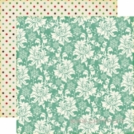 "Popierius ""Christmas Floral"", 30,5x30,5 cm"