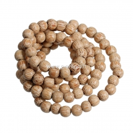 Coco wood bead, coffee color, 8-9 mm, 1 pc