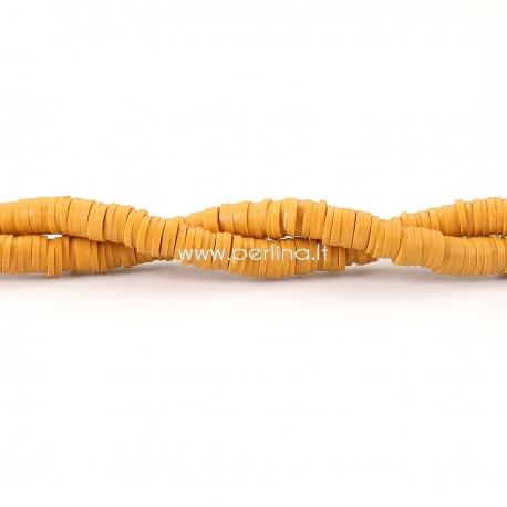 """Polimerinio molio karoliukas """"Katsuki"""", imbiero sp., 5 mm, 1 juosta (apie 380 vnt.)"""