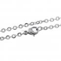 Grandinėlė, nerūdijantis plienas, sidabro sp., 70 cm ilgis, 3x2,5 mm