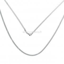 Grandinėlė, nerūdijantis plienas, sidabro sp., 61,5 cm ilgis, 4x2,7 mm