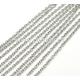 Grandinėlė, nerūdijantis plienas, sidabro sp., 4x3x0,8 mm, 10 cm