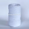 Pasukta medvilninė virvė, balta sp., 3 mm, 140 m