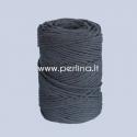 Pasukta medvilninė virvė, juoda sp., 3 mm, 140 m