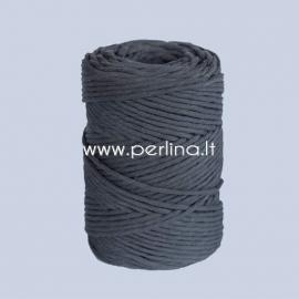 Cotton rope, black, 3 mm, 140 m