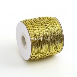 Dekoratyvinė PVC virvelė, aukso sp., 1,5 mm, 1 m
