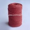 Pasukta medvilninė virvė, bordo sp., 3 mm, 140 m