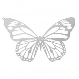 """Pakabukas """"Ažūrinis drugelis"""", nerūdijantis pleinas, 51x33 mm"""