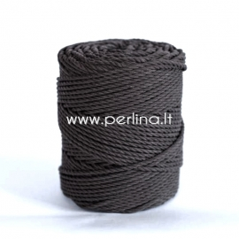 Sukta medvilninė virvė, juoda sp., 4 mm, 150 m