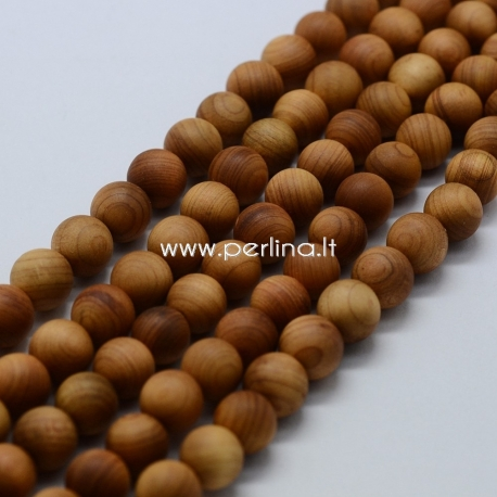 Medinis karoliukas, natūrali medžio sp., 8~8,5 mm, 1 vnt.