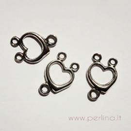 """Tibeto sidabro sujungimas """"Širdutė"""", 21x15 mm"""