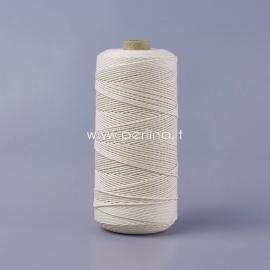 Sukta medvilninė virvė, natūrali sp., 1 mm, 500 m