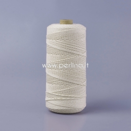 Pasukta medvilninė virvė, natūrali sp., 1 mm, 500 m