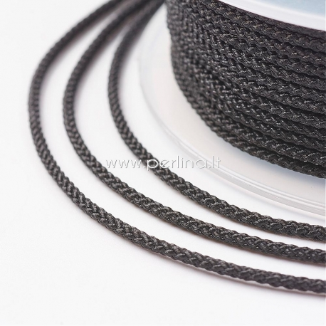 Pinta nailono virvelė, juoda sp., 1,5 mm, 1 ritė/12 m