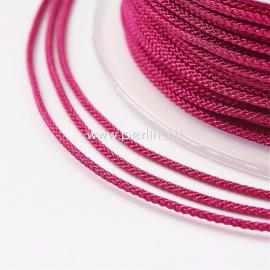 Braided nylon thread, cerise, 1,5 mm, 1 roll/12 m