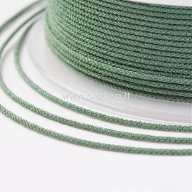Braided nylon thread, mossy, 1,5 mm, 1 roll/12 m