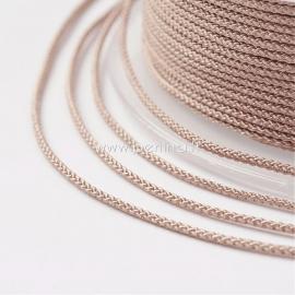 Braided nylon thread, peach puff, 1,5 mm, 1 roll/12 m