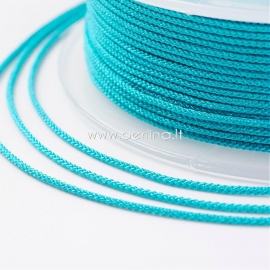 Braided nylon thread, deep sky blue, 1,5 mm, 1 roll/12 m