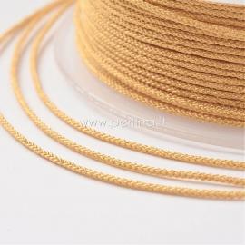 Braided nylon thread, gold/wheat, 1,5 mm, 1 roll/12 m