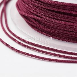 Braided nylon thread, dark red, 1,5 mm, 1 roll/12 m