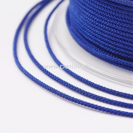 Braided nylon thread, royal blue, 1,5 mm, 1 roll/12 m