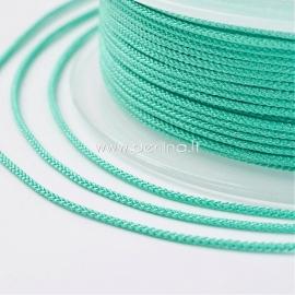 Braided nylon thread, turquoise, 1,5 mm, 1 roll/12 m