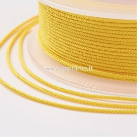 Braided nylon thread, yellow, 1,5 mm, 1 roll/12 m