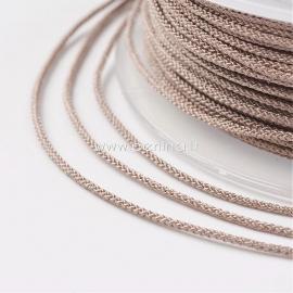 Braided nylon thread, rosy brown, 1,5 mm, 1 roll/12 m