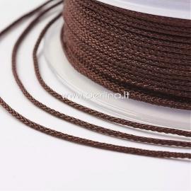 Braided nylon thread, coconut brown, 1,5 mm, 1 roll/12 m