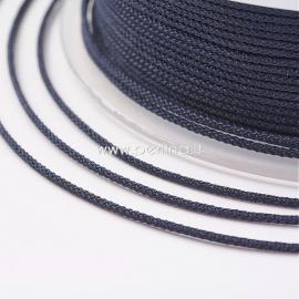 Braided nylon thread, jeans blue, 1,5 mm, 1 roll/12 m