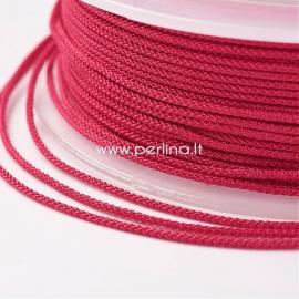 Braided nylon thread, red, 1,5 mm, 1 roll/12 m