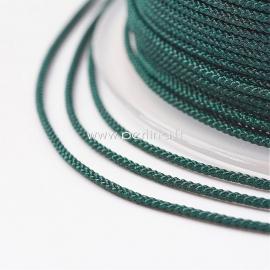 Braided nylon thread, dark green, 1,5 mm, 1 roll/12 m